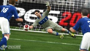 Six new screenshots of Pro Evolution Soccer (PES) 2014 goalkeeper dive
