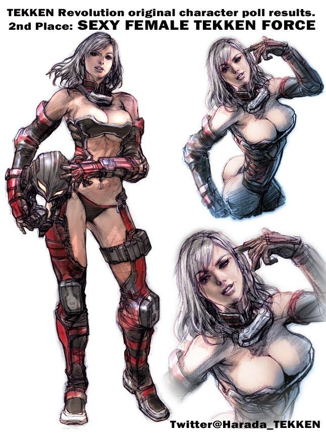 Tekken Revolution's newest character is female vampire; character art here-sexy-female-tekken-force