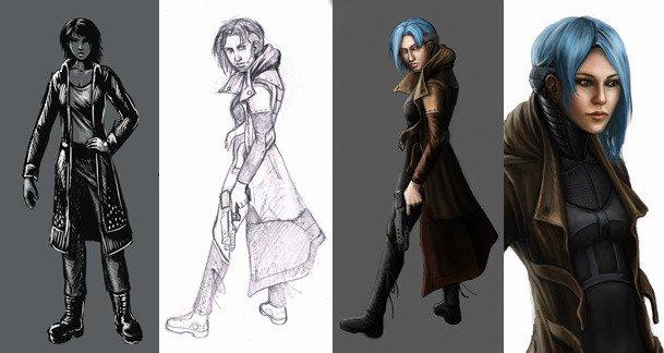 Cyberpunk 2D RPG Dex shows off its Concept Art