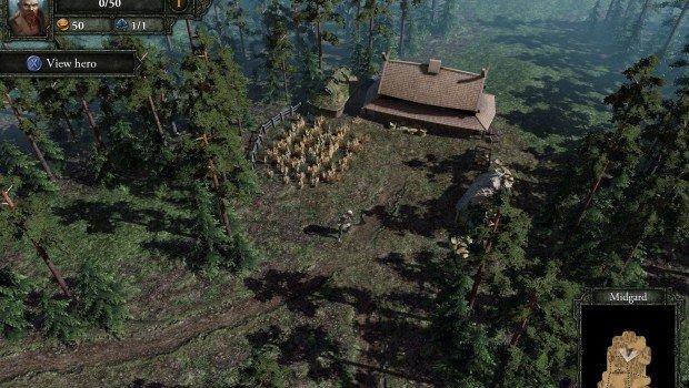Epic Norse mythology-based RPG Runemaster screenshot of hero outside farm in Midgard, fresh concept art