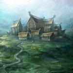 Epic Norse mythology-based RPG Runemaster screenshot of Midgard, Human settlement concept art