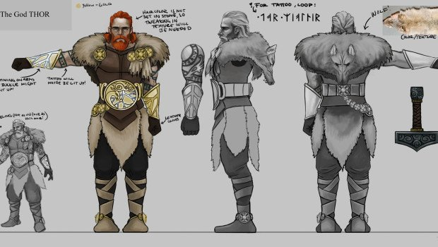 Fresh Runemaster concept artworks show Thor, Loki and more