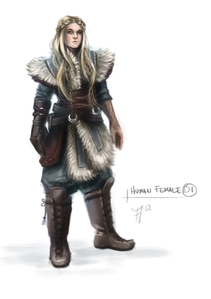 Female Human Fresh Runemaster concept artworks show Thor, Loki and more