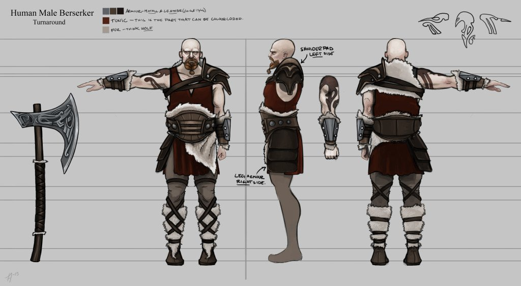 Berserker Fresh Runemaster concept artworks show Thor, Loki and more