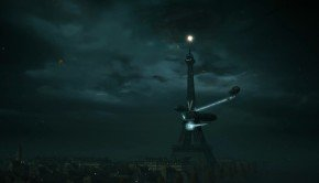 Eiffel Tower_zeppelin_Arno shoots down planes, evades trains in this Assassin's Creed: Unity trailer