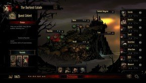 Darkest Dungeon Quest Select/Estate Map illustrated in new image