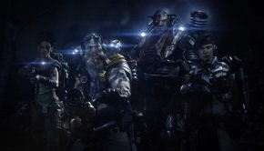 Hunters and Monster battle in Evolve's Cinematic Intro