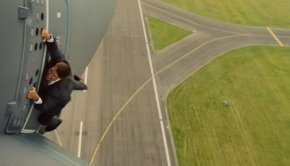 Ethan Hunt hangs on to a plane in Mission: Impossible Rogue Nation teaser