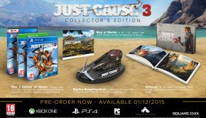 Just Cause 3 Collector's Edition includes 15inch Replica of Rico's signature grappling Hook