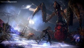 Quartet of screenshots from scifi action RPG The Technomancer