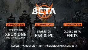 Tom Clancy's The Division Beta starts 28 January
