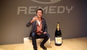 Quantum Break goes gold; Sam Lake celebrates with champagne